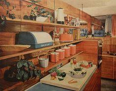 1950s kitchen midcentury interior design