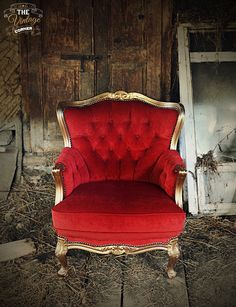 red-gold chair