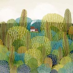 Landscape Illustration by Jane Newland