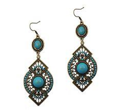 Blue-Vintage-Earrings