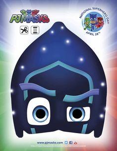 350+ Free Halloween Masks - PJMasks Night Ninja Printable Mask