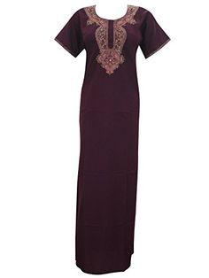 Womans Long Kaftan Caftan Neck Embroidered Muumuu Kaftans Loungerwear Dress Medium Sz Mogul Interior http://www.amazon.com/dp/B00VNNG3CW/ref=cm_sw_r_pi_dp_2.2ivb0YP6KCC