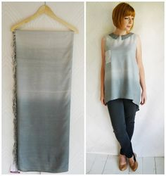 old linens...ombre diy dye & sew yourself a masterpiece!
