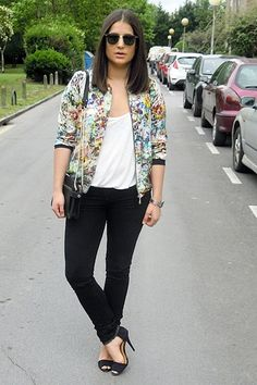 Flower bomber | Women's Look | ASOS Fashion Finder