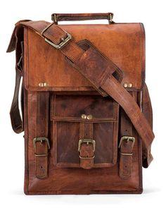 4f5e201eec Men s Rustic Genuine Leather Messenger Shoulder Bag Small Cross Body  Satchel  Handmade  MessengerShoulderBag Crossbody