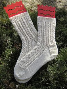 Ravelry: Aran Socks pattern by Monica Jines