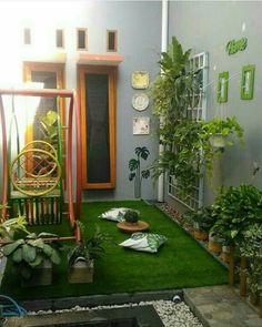 Small garden patio ideas apartments 58 Ideas for 2019 Backyard Patio, Backyard Landscaping, Vertikal Garden, Small Outdoor Patios, Garden Design, House Design, Patio Interior, Home Design Plans, Balcony Garden