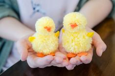 18 Ridiculously Easy Easter Crafts Anyone Can Do - The Krazy Coupon Lady Easter Arts And Crafts, Arts And Crafts House, Bunny Crafts, Easter Camping, Do It Yourself Organization, How To Make A Pom Pom, Pom Pom Crafts, Do It Yourself Crafts, Homemade Crafts