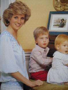 Diana & William & Harry at Highgrove