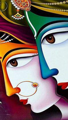 Online Shopping for the Sikh & Punjabi Community Worldwide - nath Indian/Pakistani Folk Punjab Paint Kerala Mural Painting, Buddha Painting, Krishna Painting, Buddha Art, Krishna Art, Krishna Images, Lord Krishna, Painting Art, Radha Krishna Sketch