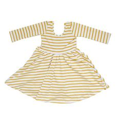 Yellow stripe dress in 2T - presday promo code for 25% off