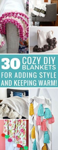 Ohh loving these easy homemade blanket ideas - now I can make my boring old throws look like the ones in the magazines! Thanks for sharing!