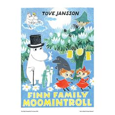 Moomin poster  - Finn Family Moomintroll (potential color scheme?)