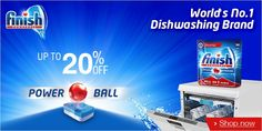 Finish Power Ball for Dish Washing up to 20% Off.