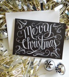 Merry Christmas Chalkboard Cards – Box of 8 by Lily & Val on Scoutmob Shoppe Christmas Chalkboard, Noel Christmas, Merry Little Christmas, All Things Christmas, Winter Christmas, Holiday Crafts, Holiday Fun, Holiday Ideas, Christmas Ideas