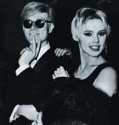 Edie Sedgwick and Andy Warhol #Factory #Warhol