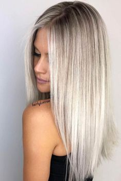 Golden Blonde Balayage for Straight Hair - Honey Blonde Hair Inspiration - The Trending Hairstyle Hair Cut Long, Haircuts For Long Hair Straight, Haircut Long Hair, Long Blunt Haircut, Long Hair Styles Straight, Blonde Hair Looks, Brown Blonde Hair, Platinum Blonde Hair, Pearl Blonde