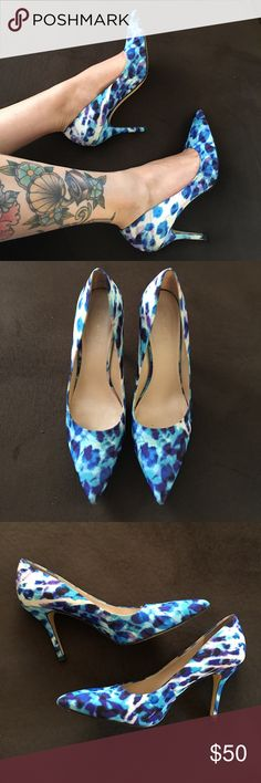 Super Fun Nine West Stilettos These are gorgeous! Lots of life left! Normal wear on bottom but otherwise near perfect condition Nine West Shoes Heels
