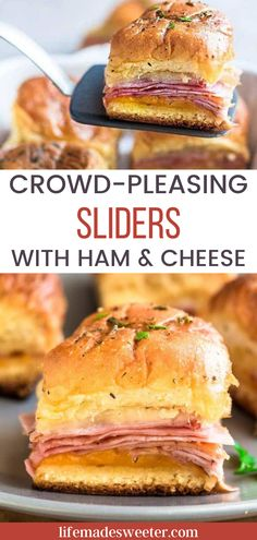 No one can resist these ham and cheese sliders! For real...they are that good. Load them up with your favorite toppigns and serve them as the main course or an appetizer.