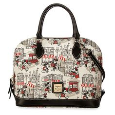 Mickey and Minnie Mouse Downtown Zip Satchel by Dooney & Bourke from Disney Store for $268.00