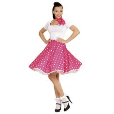 Costume Jupe Années 60's – Rose #déguisementsadultes #costumespouradultes