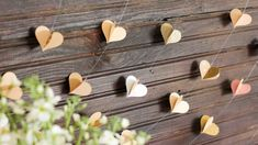 Paper heart garland. Super cute!