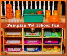 Pumpkin Theme Tot School Fun