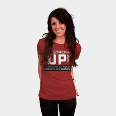 Stack-Up Shirt (Tagline) womens shirt http://geek.ragebear.com/pfxiv