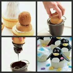 How to make the perfect penguin cupcakes! <3