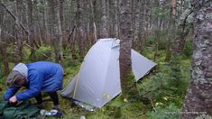 The Tarptent Rainbow is a very comfortable and spacious tent UL tent but it can be difficult to pitch in dense woods.