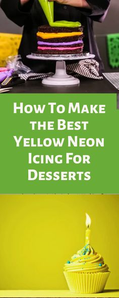 One of the things I love about decorating cakes and cupcakes is how much variety you can get. There are times when I want something delicate and easy and times when I need bright and fun colors. Sometimes you want that extra in-your-face pop of color, and that is when I turn to neons. Here I will show you how to make neon yellow icing and my best products to use. Best Frosting Recipe, Frosting Recipes, Cake Icing, Cupcake Cakes, Cupcakes, White Buttercream, Gel Food Coloring, Decorating Cakes, Best Cake Recipes