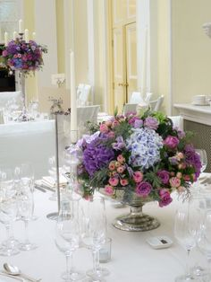 Wedding table centres, Jamie Aston Flowers http://www.jamieaston.com/index.php/weddings
