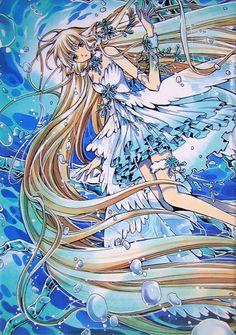 Tsubasa Reservoir Chronicle CLAMP hey, it's the Chii who lives in Celes! Cardcaptor Sakura, Manga Illustration, Illustrations, Chobits Cosplay, Anime Manga, Anime Art, Xxxholic, Anime Cosplay Costumes, Manga Artist