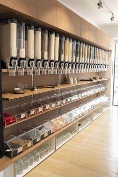 Home Decorating Trends 2018 Supermarket Design, Retail Store Design, Retail Shop, Retail Displays, Shop Displays, Merchandising Displays, Window Displays, Zero Waste Grocery Store, Herbal Shop