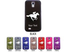 Personalized Engraved Horse Racer, rider Case for Samsung Galaxy S3, S4, S5 - Perfect gift