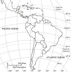 Central America Map Coloring SOCIAL STUDIES Pinterest - Blank map of central and south america