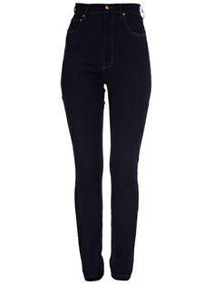 AMAPÔ - Calça jeans skinny azul.