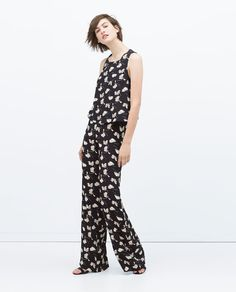 ZARA - WOMAN - PRINTED CROP TOP. The the matching pants.