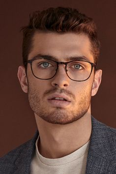 Elevate Tortoise - The model wears Elevate Tortoise. Elevate is actually a heavy-duty, ready-for-anything pair of eyeg - Glasses For Oval Faces, Mens Glasses Frames, Glasses For Your Face Shape, Eye Glasses, Men With Glasses, Glasses Man, Male Eyes, Male Face, Round Face Men