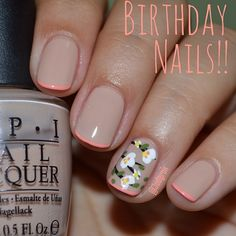 Just lovely!  Floral trend added to nails,