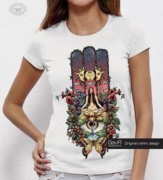 f83f5f1f Hamsa Hand Women T-shirt, Hamsa shirt, Hand of Fatima, Hamsa hand, Festival  top, Spiritual clothes, Trendy graphic tee, psychedelic clothing
