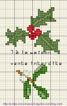 mistletoe and holly Xmas Cross Stitch, Cross Stitch Pictures, Cross Stitch Heart, Cross Stitching, Cross Stitch Embroidery, Cross Stitch Designs, Cross Stitch Patterns, Cross Stitch Calculator, Funny Embroidery