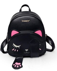 These cute cat bagare fun to carry! This bag has multiple pockets where you can store items such as your cell phones, keys, etc so it can be used to just carry