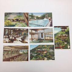 Fujiya Hotel Japan Postcard 7pc Lot 1930s Miyanoshita Spa Pool Dining Pavilion