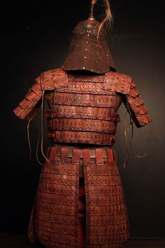 Mongol armor kit by SokolWorkshop; mongol, tatar, Helmet, armor, leatherarmor, leathercrafter, viking, leather, role-playing, LARP, Medieval, cosplay, roleplaying, warrior, cuirass, vambraces, Cuirass, TorsoArmour, Lamellar, PlatedArmour, Pauldrons, Vambraces, Belt, HeroHarness, leatherSkirt, ThighArmour, Greaves, WovenArmour