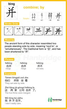 """Chinese Character""""并""""Pinyin(bìng) yībìng 一并   mean: to lump together; to treat along with all the others;"""