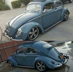 Volkswagen Slug bug with a nice stance °~° Custom Vw Bug, Custom Cars, Car Volkswagen, Vw Cars, Vw Racing, Vw Engine, Hot Vw, Vw Classic, Old School Cars