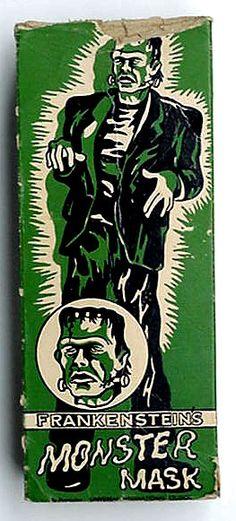 cryptofwrestling: Frankenstein's Monster Mask | Mark's Scrapbook of Oddities & Treasures.