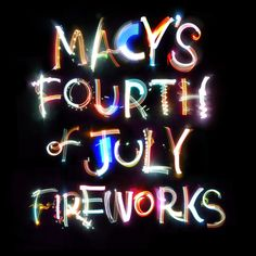 MAKING THE MACY'S 4TH OF JULY TYPE ---  Craig Ward ----- http://www.wordsarepictures.co.uk/