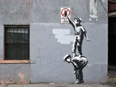 Controversial graffiti artist Banksy is known all over the world due to his signature brand of street art. GIF artist ABVH tweaks Banksy's art a bit by giving them the GIF treatment. See the animated graffiti after the jump. Banksy Graffiti, Street Art Banksy, Graffiti Artwork, Bansky, Graffiti Artists, Banksy Canvas, Graffiti Lettering, Banksy Artist, Banksy Paintings